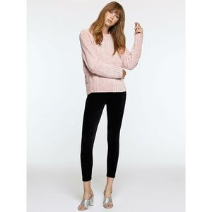 Anthropologie Plush Chenille Pink Pullover Sweater